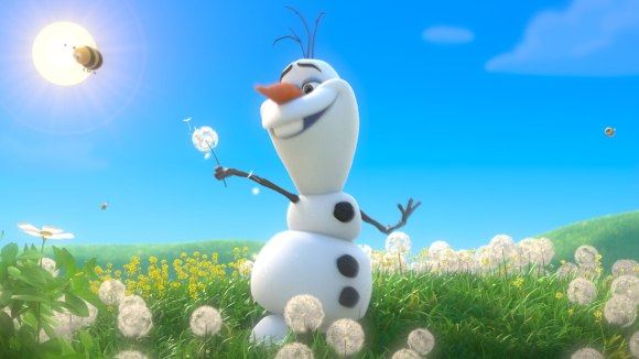 frozen olaf in summer