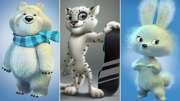 Mascots for the Sochi Winter Olympics, apparently.